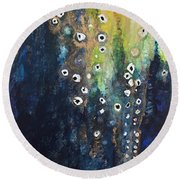 Cascading Colors II Round Beach Towel