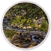 Cascading Creek Round Beach Towel
