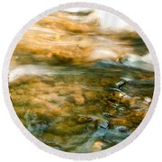 Cascading Waters Round Beach Towel