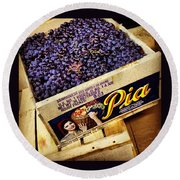 Case Of Sangiovese Grapes Round Beach Towel