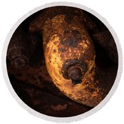Case Tractor Abstract Round Beach Towel