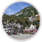 Casemates Square In Gibraltar Round Beach Towel