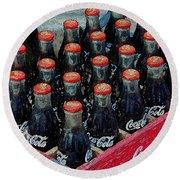 Classic Case Of Coca Cola Round Beach Towel