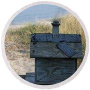 Casetta Per Uccellini Round Beach Towel