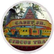Casey Jr Circus Train Fantasyland Signage Disneyland Round Beach Towel