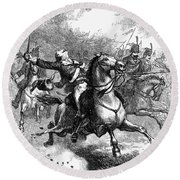 Casimir Pulaski (1748-1779) Round Beach Towel