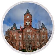 Cass County Courthouse Round Beach Towel