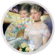 Cassatt's The Loge Round Beach Towel