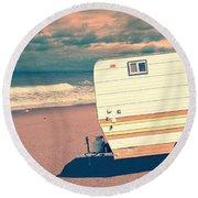 Castaway Round Beach Towel by Edward Fielding