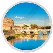 Castel Sant'angelo - Rome Round Beach Towel