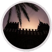 Castell Dels Tres Dragons ... Round Beach Towel
