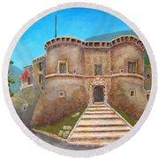 Castello Ducale Di Faicchio Round Beach Towel
