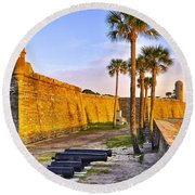 Castillo Sunrise Round Beach Towel