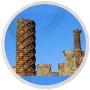 Castle Brickwork Round Beach Towel