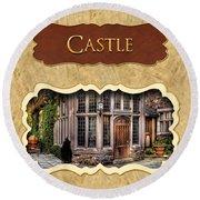 Castle Button Round Beach Towel