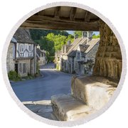 Castle Combe - View Round Beach Towel