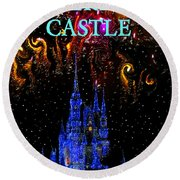 Castle Dreams Round Beach Towel