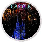 Castle Dreams Round Beach Towel