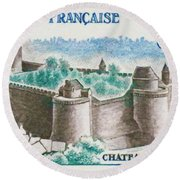 Castle Fougeres Round Beach Towel