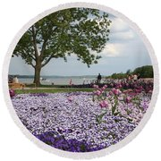 Castle Garden Schwerin - Germany Round Beach Towel