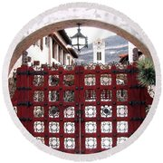 Castle Gate Round Beach Towel