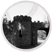 Castle II Round Beach Towel
