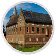 Castle In A Dutch Country Round Beach Towel