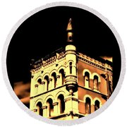 Louisville Kentucky Old Fort Nelson Building Round Beach Towel