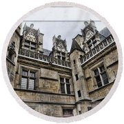 Castle In The Clouds Paris France Round Beach Towel