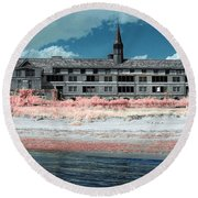 Castle In The Sky Round Beach Towel