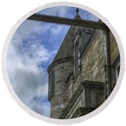 Castle Menzies From The Window Round Beach Towel