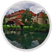 Castle Otocec Round Beach Towel
