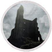 Castle Ruin Round Beach Towel