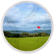 Castle Stuart Golf Links Round Beach Towel