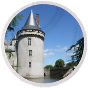 Castle Sully Sur Loire - France Round Beach Towel