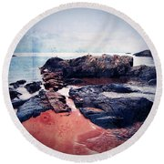 Castles In The Sand Round Beach Towel