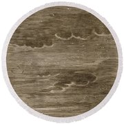 Castor And Pollux, 1731 Round Beach Towel