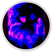 Cat Abstract Round Beach Towel