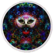 Cat Carnival Round Beach Towel