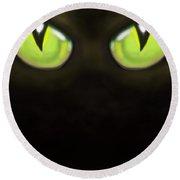 Cat Eyes Round Beach Towel