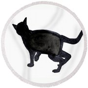 Cat I Round Beach Towel