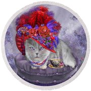 Cat In The Red Hat Round Beach Towel