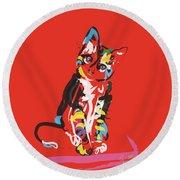 Cat Prins Round Beach Towel