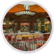 Catal Outdoor Cafe Downtown Disneyland 02 Round Beach Towel