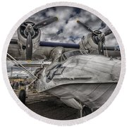 Catalina Pby-5a Miss Pick Up Hdr Round Beach Towel