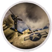 Catalina Pby-5a Miss Pick Up Low Angle Round Beach Towel