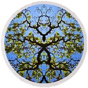 Catalpa Tree Round Beach Towel