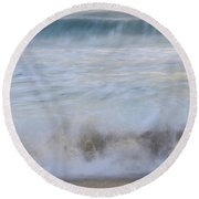 Catch The Waves Round Beach Towel