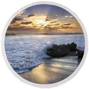 Catching The Light Round Beach Towel