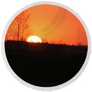 Catching The Sunset Round Beach Towel